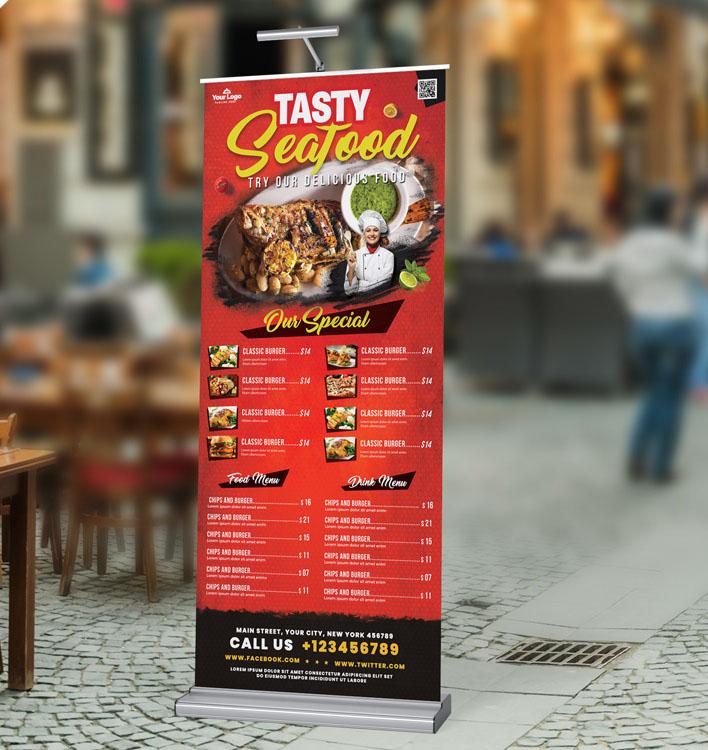 restaurant cafe food banner